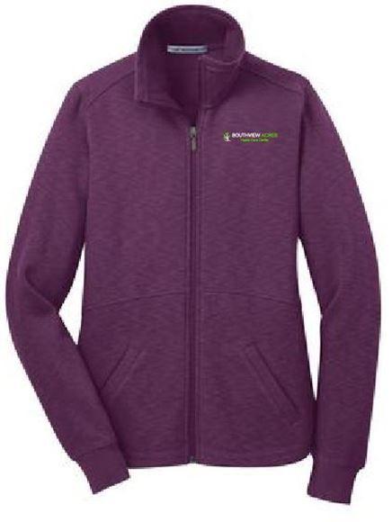 Picture of Port Authority® Ladies Slub Fleece Full-Zip Jacket (L293)